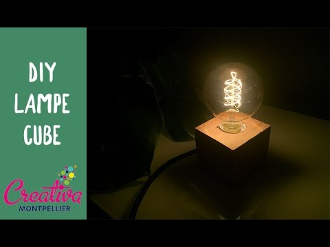 lampe cube creativa diy bois youtube. Black Bedroom Furniture Sets. Home Design Ideas