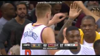 Kristaps Porzingis' Put back dunk vs Cavs (2015.11.04)