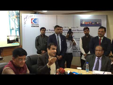 Shri Nitin Gadkari flags off first container of CONCOR for coastal shipping