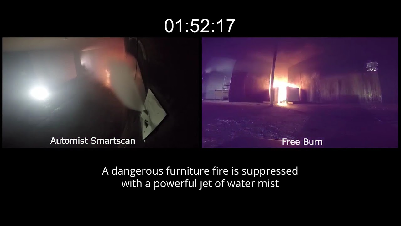 Automist smartscan fire protection for the home - Automist Smartscan Residential Watermist Sprinkler Fire Test Bs 8458