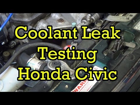 Finding a Coolant Leak on a Honda Civic