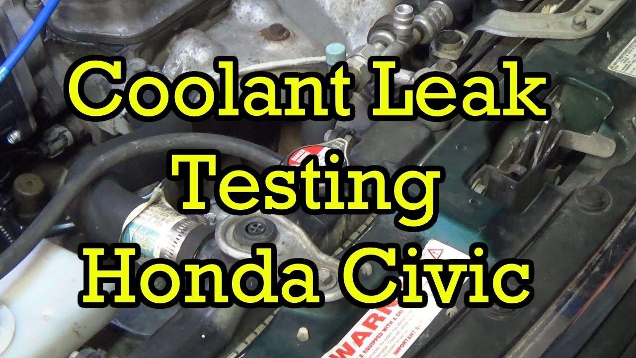 2000 Honda Civic Engine Diagram Reflex Arc Finding A Coolant Leak On Youtube