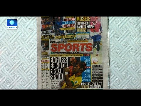World Cup Draw: Eagles Dare Brazil, Spain  Sports This Morning 
