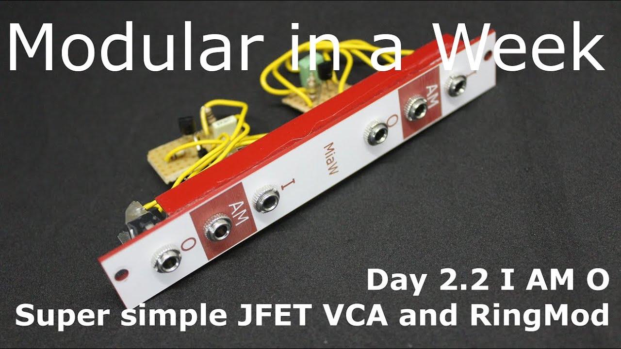 I AM O VCA/RingMod/Voltage Controlled Gate - DIY Modular in a Week 2 2