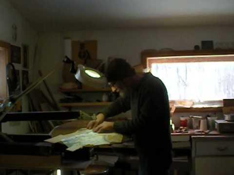 James Macdonald Art Guitars- bevel cutting on scroll saw