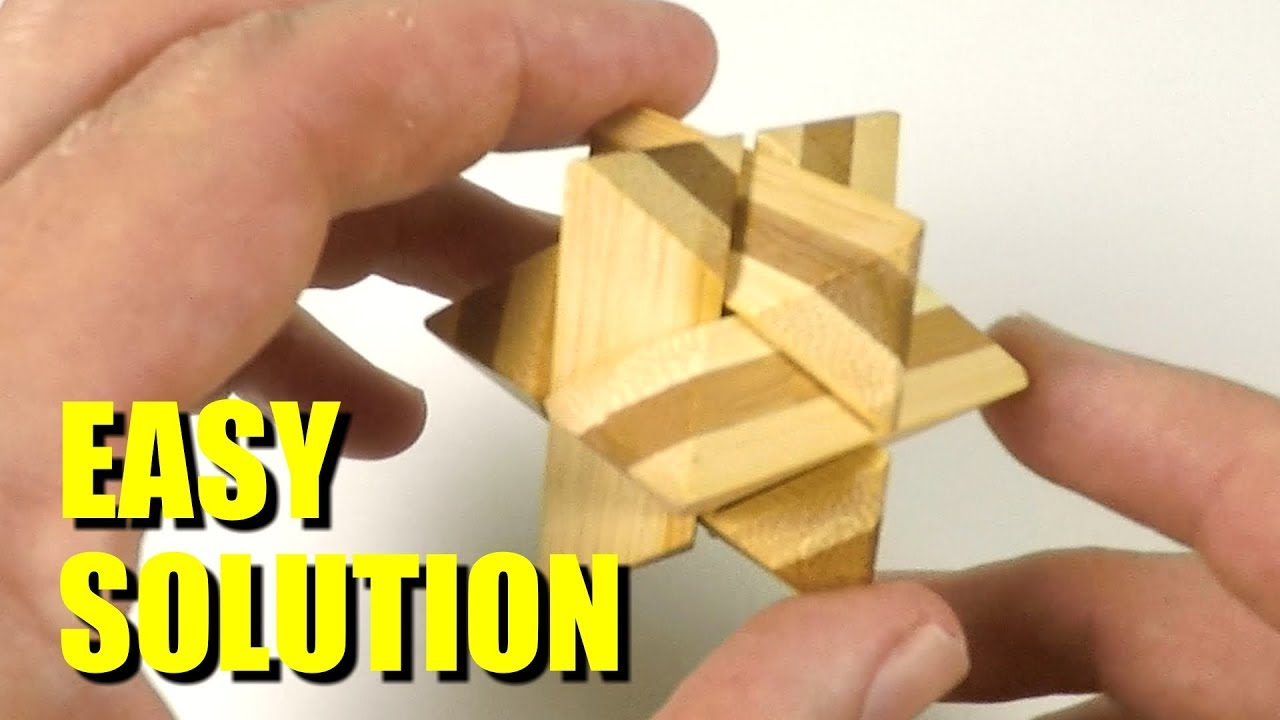 6-Piece Wooden Star Puzzle Solution