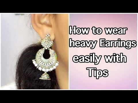 How to wear heavy earrings easily with no pulling - 동영상