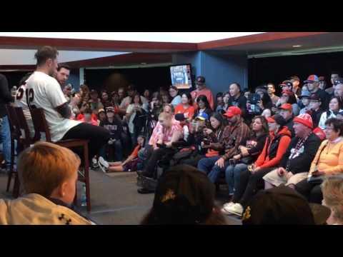 AmeliaAndAdinah interview SF Giants Brandon Belt & Brandon Crawford, SFGiants Fanfest 2017 Q&A