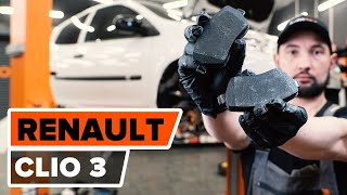 How to replace Brake pad set RENAULT CLIO III (BR0/1, CR0/1) Tutorial