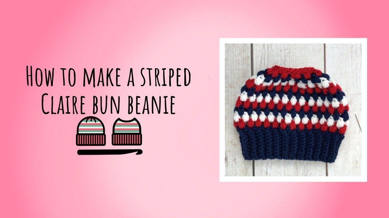 Messy Bun Hat  Claire Bun Beanie  Puff Stitch  Oatmeal   Adult  Teen  Crochet  Ready To Ship