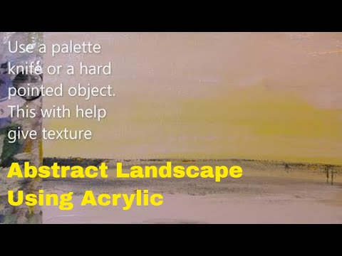 How to paint an easy contemporary Landscape painting. Short video for you to enjoy. Please SUBSCRIBE