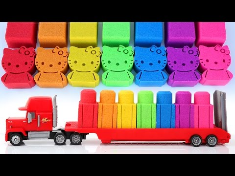 Thumbnail: Kinetic Sand Mack Truck Cars 3 Blocks Hello Kitty Modelling Clay Play Doh Lightning McQueen