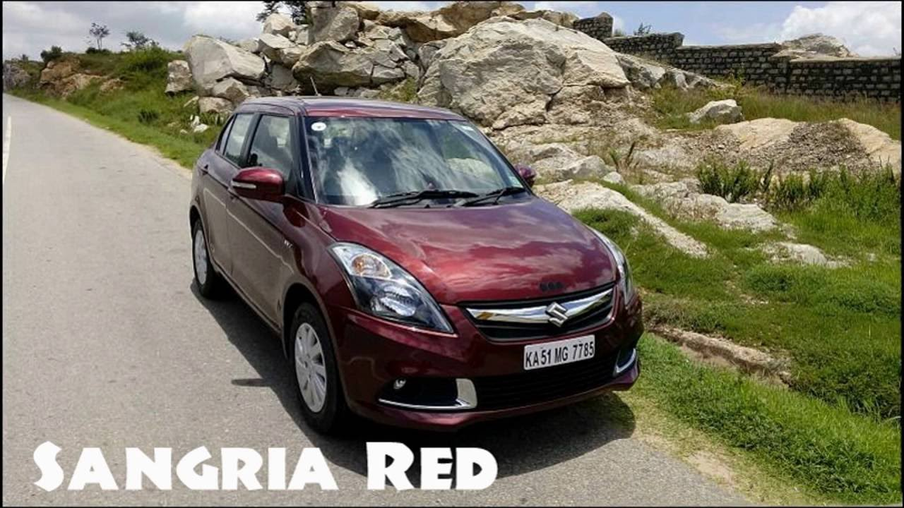 All Official Maruti Swift Dzire Colours In Natural Real World