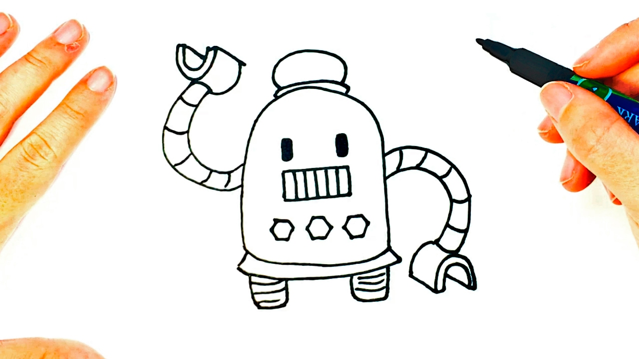 How To Draw A Robot Cute Robot Easy Draw Tutorial Youtube