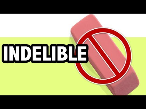 Learn English Vocabulary: INDELIBLE Meaning (Big Words To Sound Smart!)