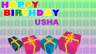Usha - Card Tarjeta_834 - Happy Birthday