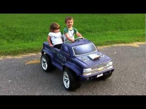 Custom Ride Ons - Stock 12V PW Street Scene Chevy Silverado 1500 - By Hozian - Modified Power Wheels