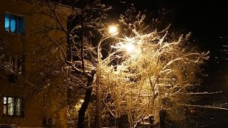 Первый снег в Алматы 2013
