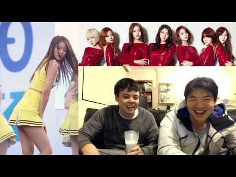"""에이오에이 AOA """"Miniskirt"""" 직캠 Fancam Reaction Review"""