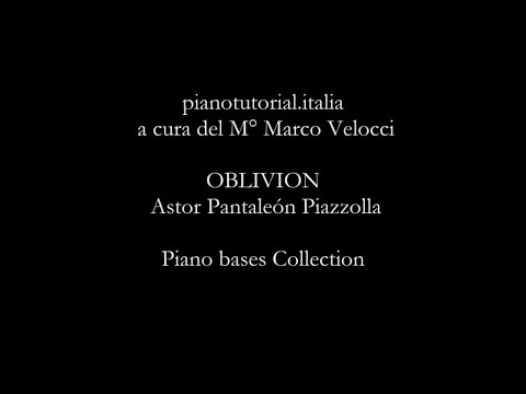OBLIVION - Backing track - Astor Pantaleón Piazzolla - Piano bases collection