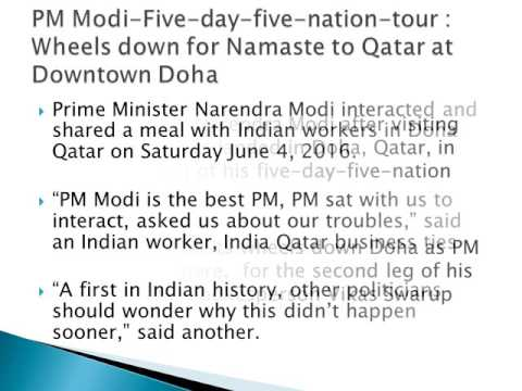 PM Modi-Five-day-five-nation-tour : Wheels down for Namaste to Qatar at Downtown Doha