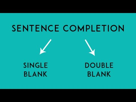 Sentence Completion - Tricks and Strategies