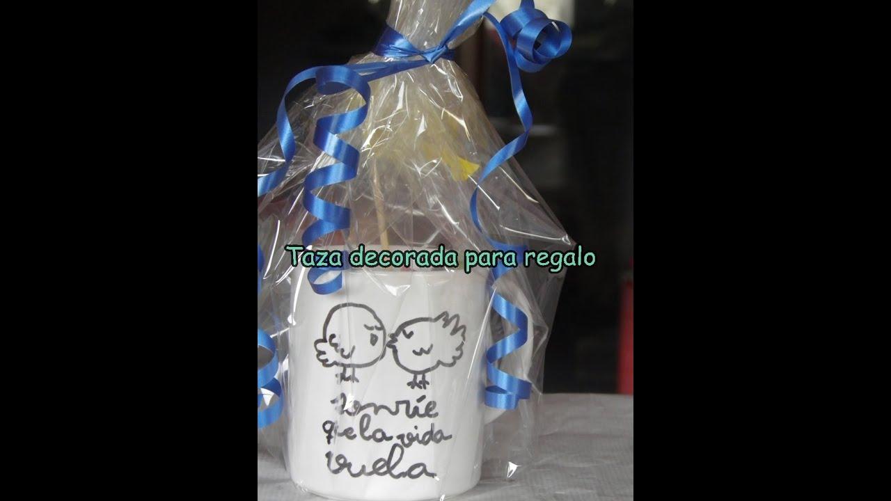 Diy taza decorada para regalo youtube - Como decorar una taza ...