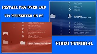 Tutorial PS3 HAN Toolbox & PKG Linker install PKG Over 4GB via webserver on PC