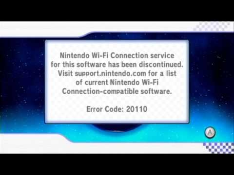 Mario Kart Wii Nintendo Wi-Fi Connection 20110 error v2