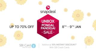 Unbox Pongal Pandigai Sale: 8th - 9th Jan