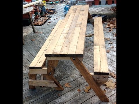 How to build a picnic table - A step by step guide | Doovi