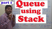 Implement a Stack using Single Queue | GeeksforGeeks - YouTube