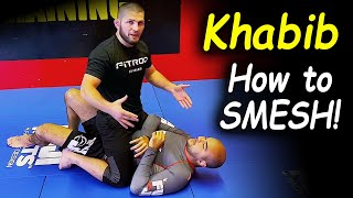 """Khabib Nurmagomedov Teaches His Secret Technique - How To """"Smesh"""" - For The First Time Ever"""