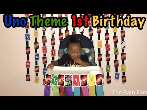 Uno Themed First Birthday