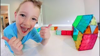 Download MY FAVORITE TOY EVER! / Magnet Blocks! Mp3 and Videos