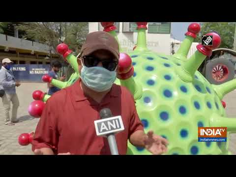 Coronavirus-themed car introduced in Hyderabad to spread awareness