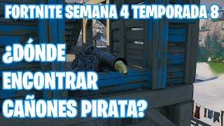 Fortnite Battle Royale | Semana 4 Temporada 8 | ¿Dónde están los cañones pirata?