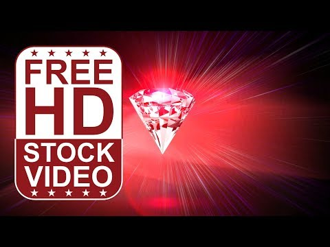 FREE HD video backgrounds – abstract animated diamond on red ethereal background with lens flares 2D
