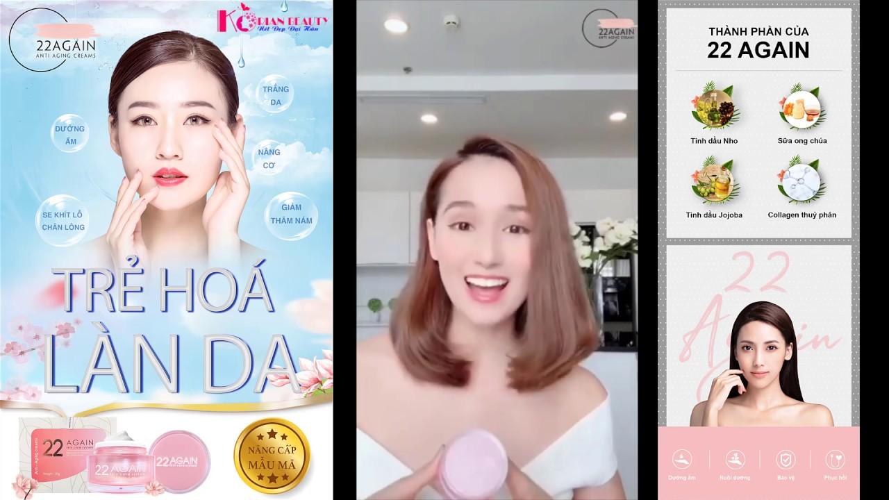 Review mỹ phẩm chống lão hóa da 22 Again từ khách khàng - YouTube