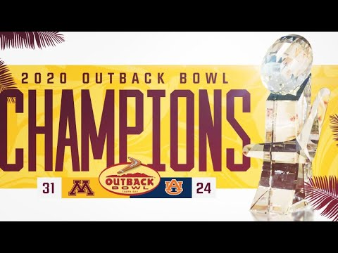 Watch Live: Gophers Defeat Auburn 31-24 In 2020 Outback Bowl