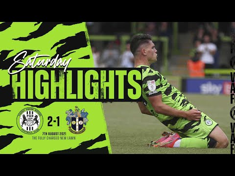Forest Green Sutton Goals And Highlights