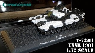 deagostini diecast t 72m1 tank 1st guards armoured division ussr 1981 1 72 scale
