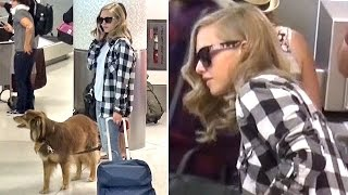 Amanda Seyfried Returns Home With Dog Finn From NYC Fashion Week