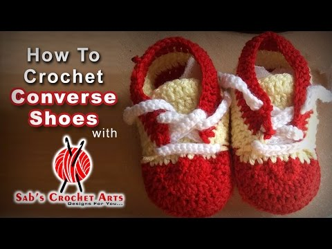How to Crochet Converse Shoes