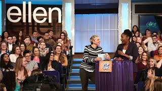 Ellen Asks the Audience Questions About Her Talk Show