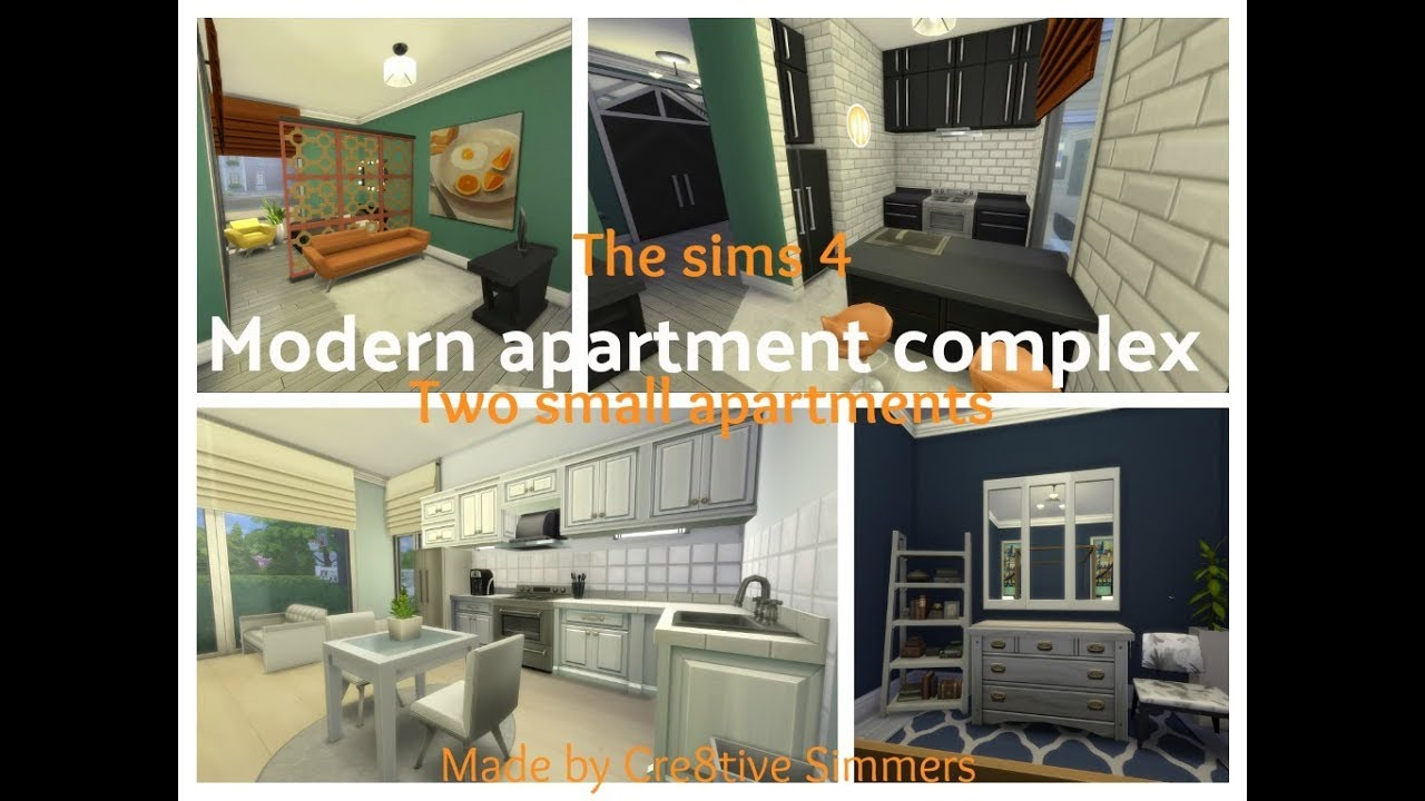 The Sims 4 House Build Modern Apartment Complex Two Small Apartments