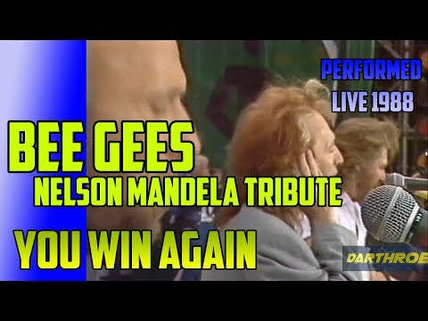 Bee Gees  YOU WIN AGAIN - LIVE @Nelson Mandela Tribute Concert, Wembley 11th June 1988