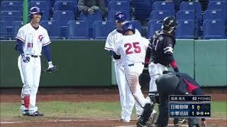 2015冬季聯盟 楊岱均對岩貞祐太擊出全壘打