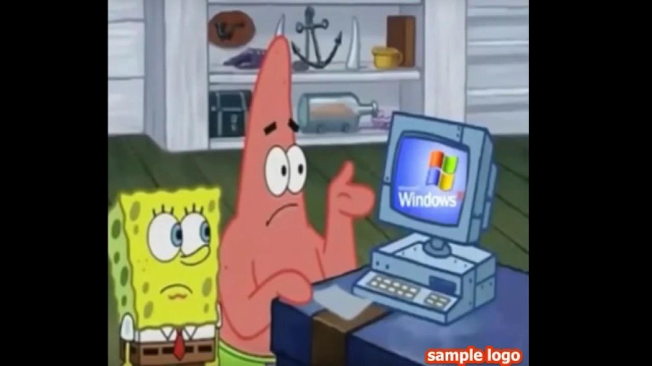 Windows 95 Start Up Screen Patrick Smashes Computer Vine Youtube