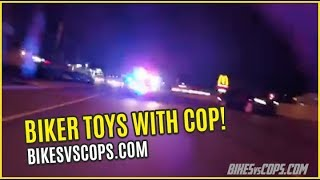 "BIKER TOYS WITH COP CHASING HIM ""REAR VIEW CAMERA"""